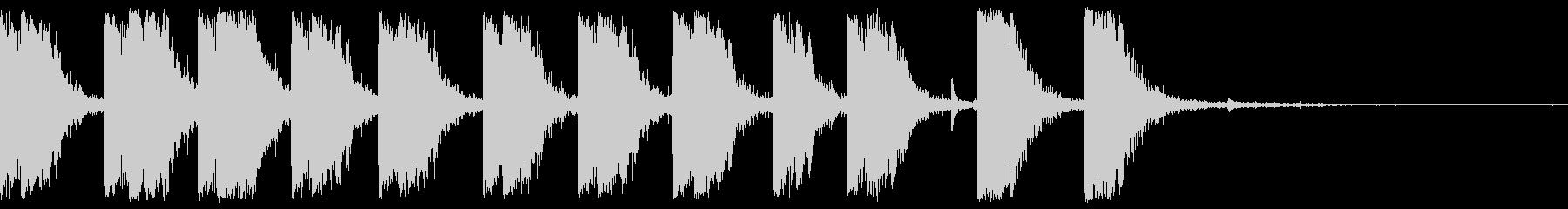 マシンガンショットバーストファイアの未再生の波形