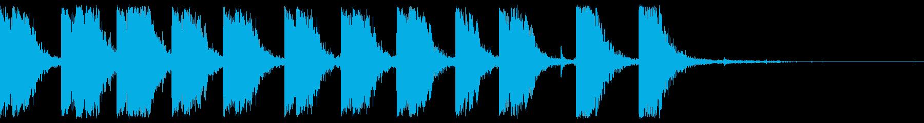 マシンガンショットバーストファイアの再生済みの波形