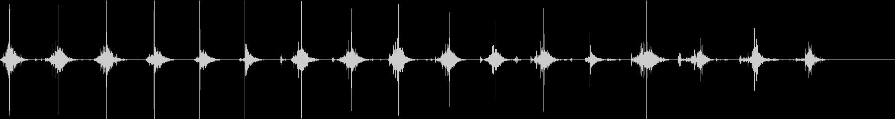【生録音】野菜を包丁で切る音28キャベツの未再生の波形