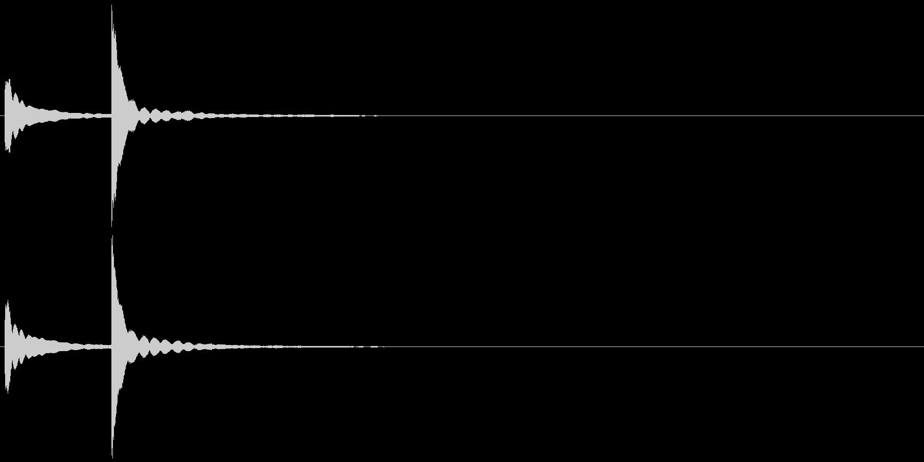風鈴 チリーンの未再生の波形