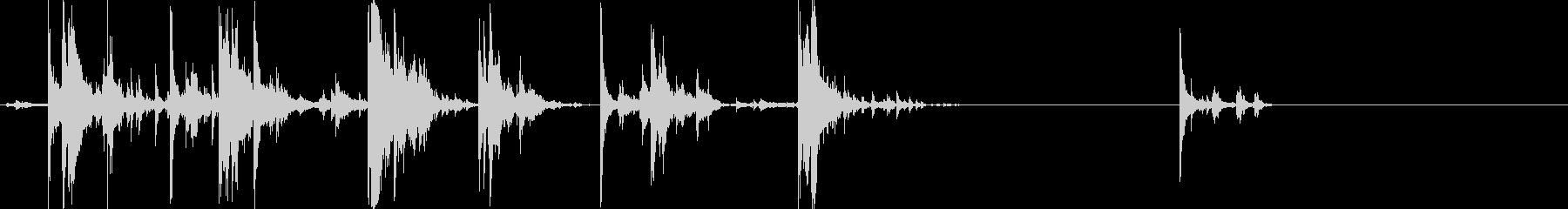 ドサドサリン(数十枚のコインが落ち行く)の未再生の波形