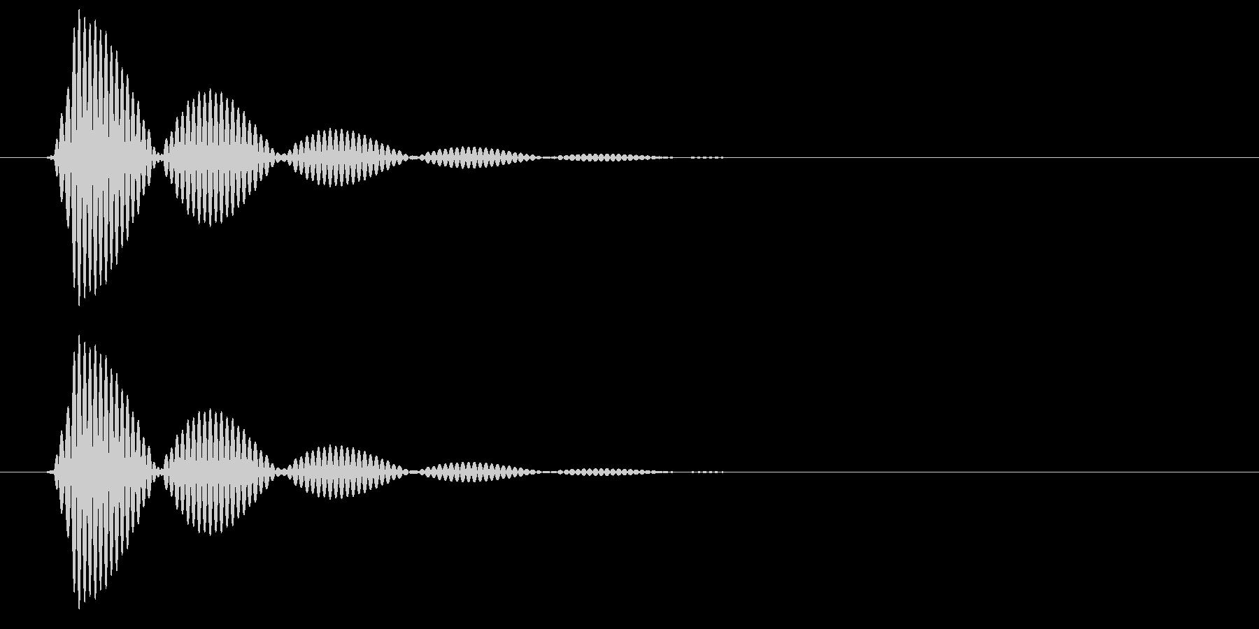 ポンヒュー(変化あり)の未再生の波形