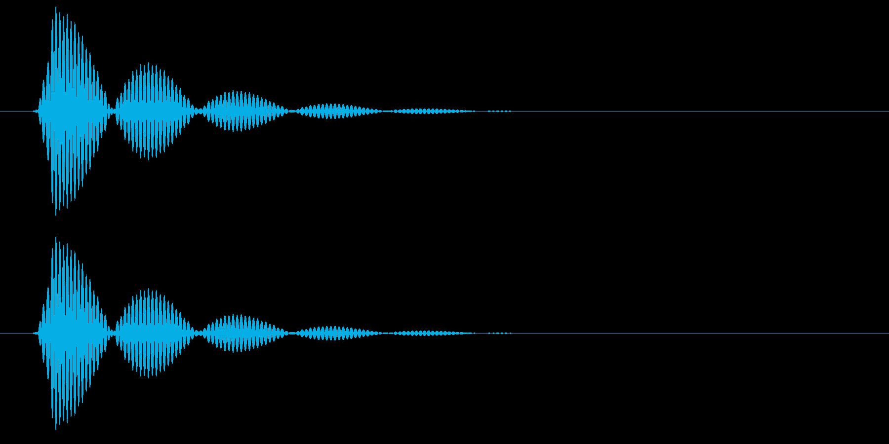ポンヒュー(変化あり)の再生済みの波形