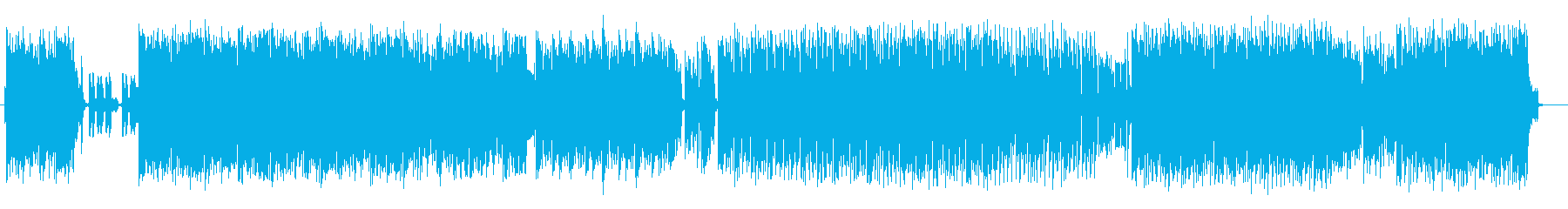 陽気で楽しいシンセサイザーEDMの再生済みの波形