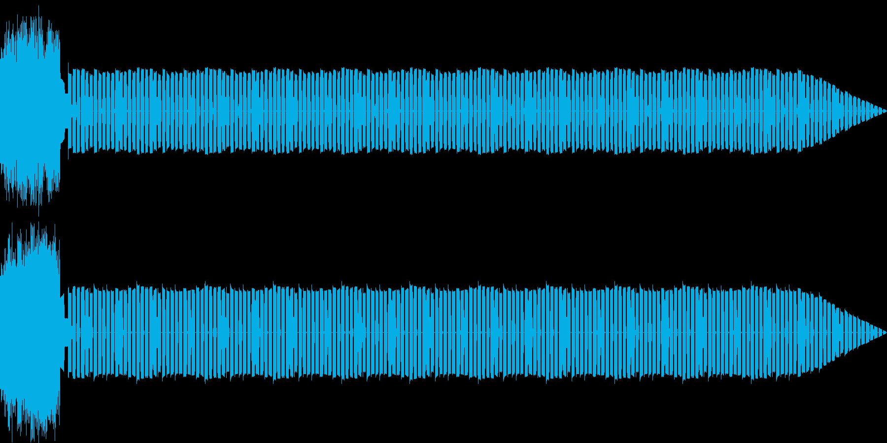 懐かしい雰囲気のシューティング系BGMの再生済みの波形