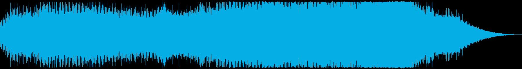神秘的な感じのするアンビエントの再生済みの波形