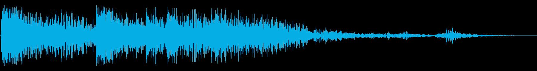 ヘビーメタルバウンス、残響金属の影響の再生済みの波形
