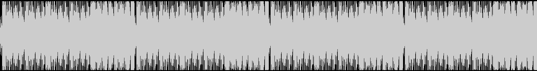 グロッケンとシンセが目立つキラキラした曲の未再生の波形