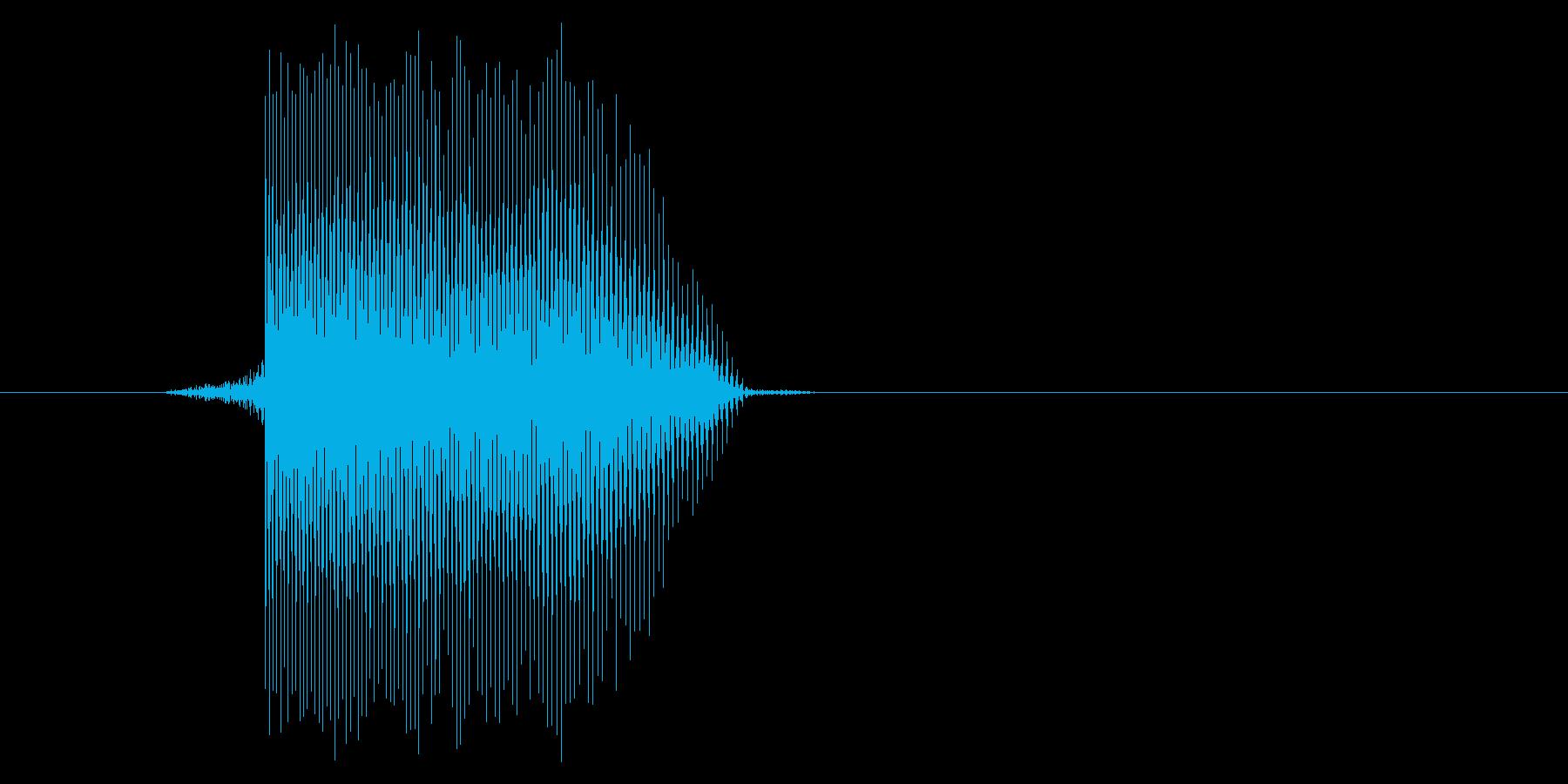 ゲーム(ファミコン風)レーザー音_037の再生済みの波形