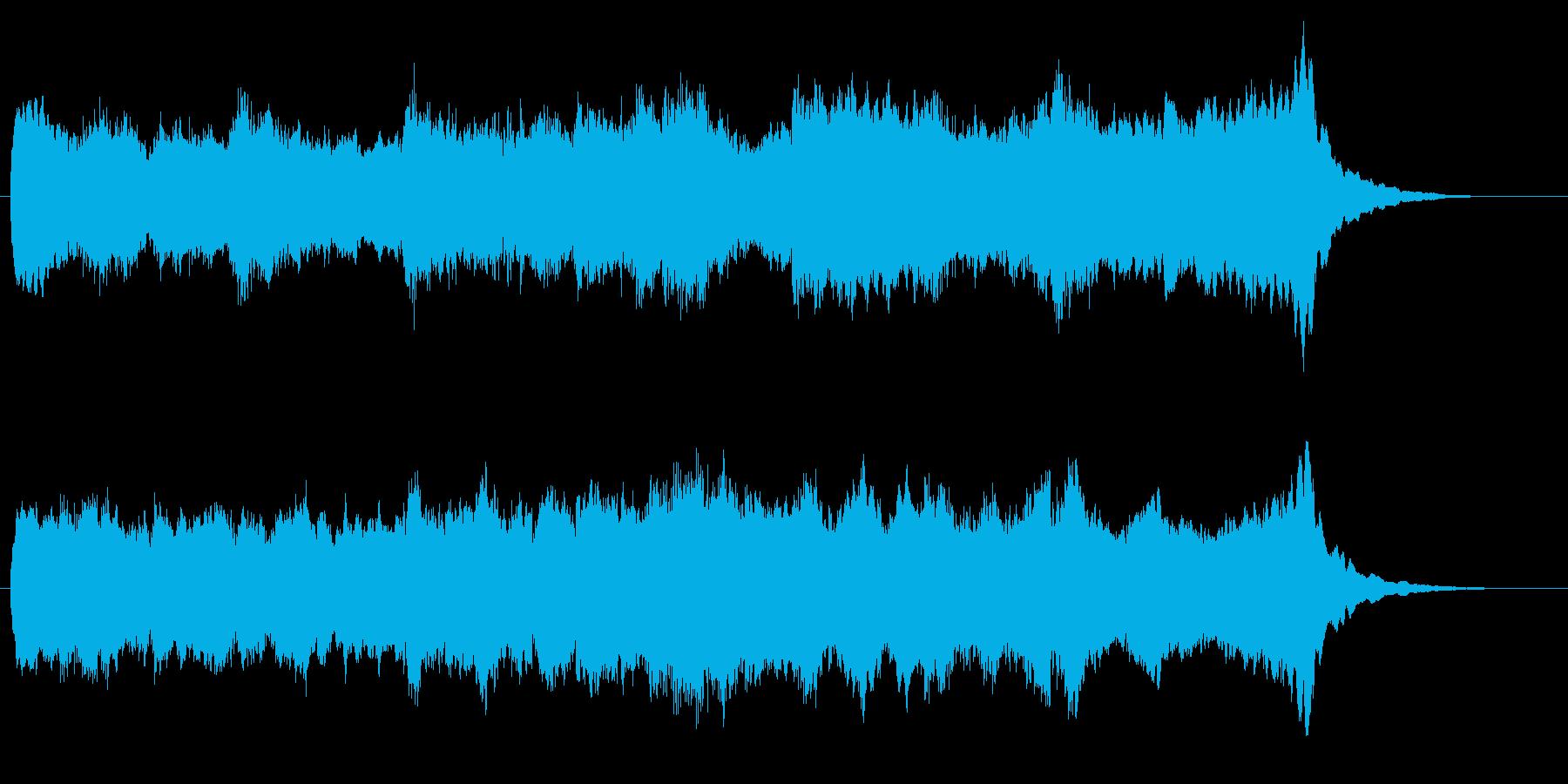 ウェディングな旋律が美しいパイプオルガンの再生済みの波形
