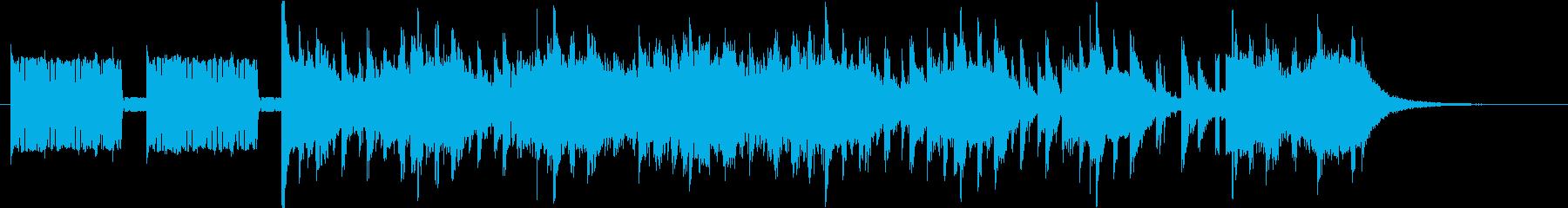 報道や情報番組風のデジタルサウンドの再生済みの波形