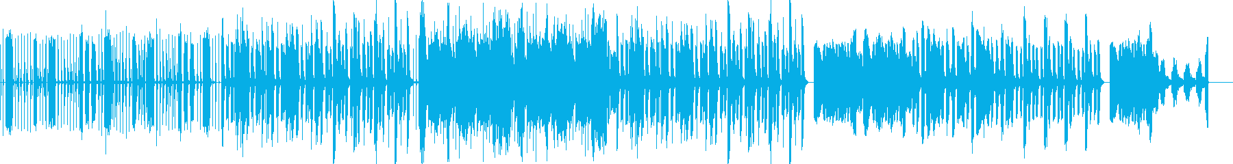 ブロックを壊して進むBASS musicの再生済みの波形