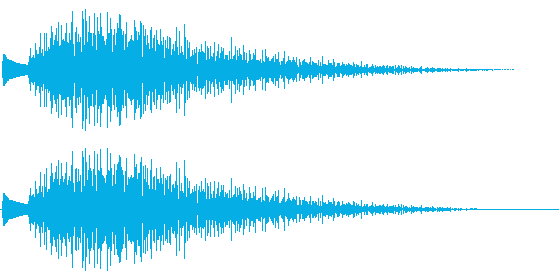 キンキラ...。輝く・変身する音Bの再生済みの波形