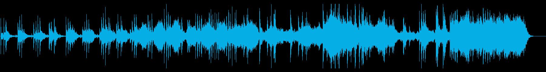 ピアノとストリングス、ボイスの感傷的な曲の再生済みの波形
