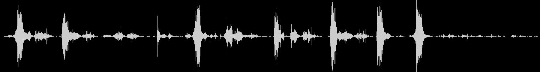 ピットブル犬の攻撃的な樹皮とうなり声の未再生の波形