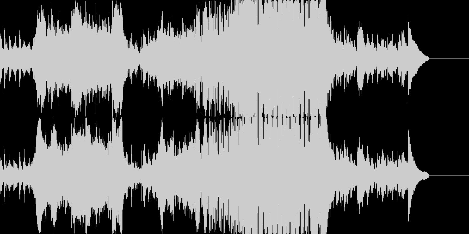 和風のピアノ・ストリングスEDMの未再生の波形