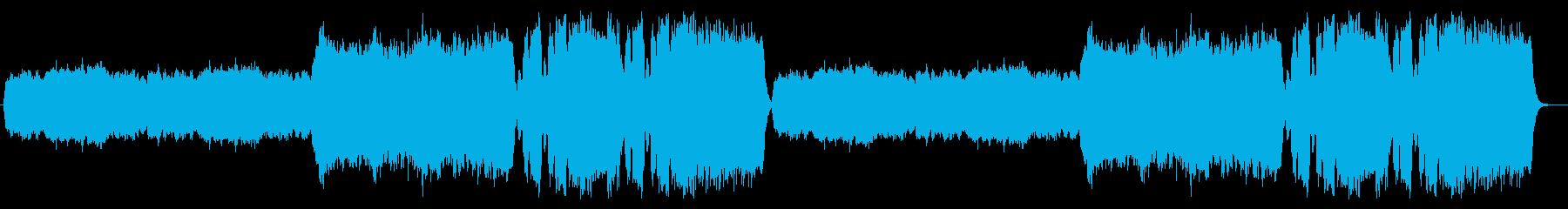 パイプオルガンのみのレクイエムの再生済みの波形