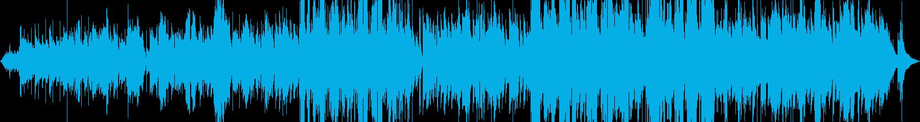 シンセが美しいゆったりした暗い歌詞の曲の再生済みの波形