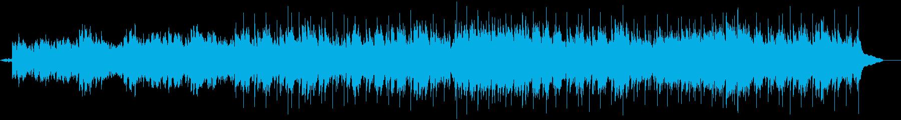 クライマックスをきらびやかに仕上げる曲の再生済みの波形