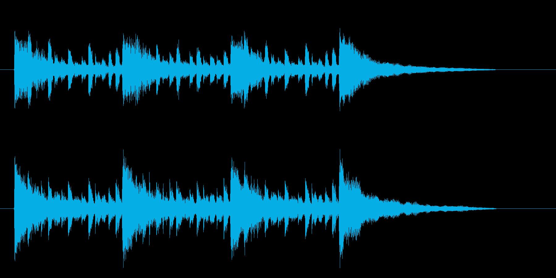 和やかで爽快感のある音楽の再生済みの波形