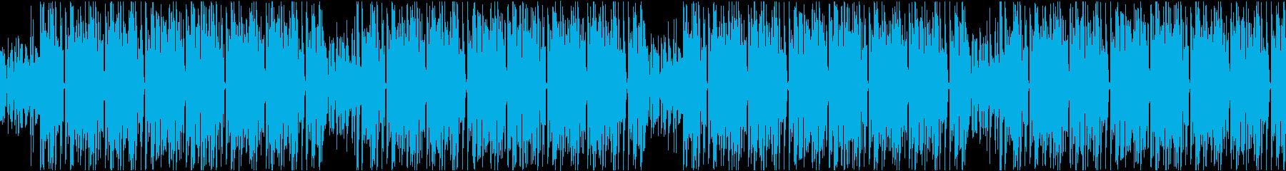 暗めでクールなHIPHOP系ループの再生済みの波形