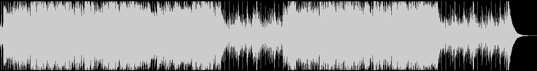 ハンドパンメインの激しいBGMの未再生の波形
