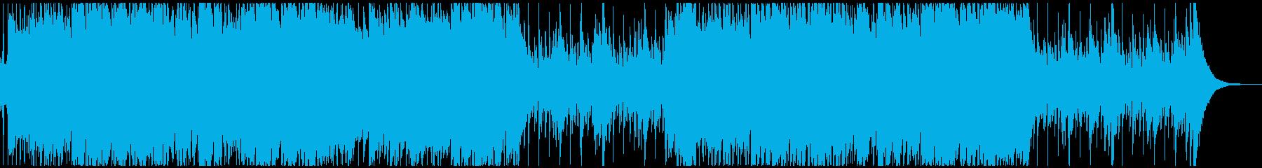 ハンドパンメインの激しいBGMの再生済みの波形