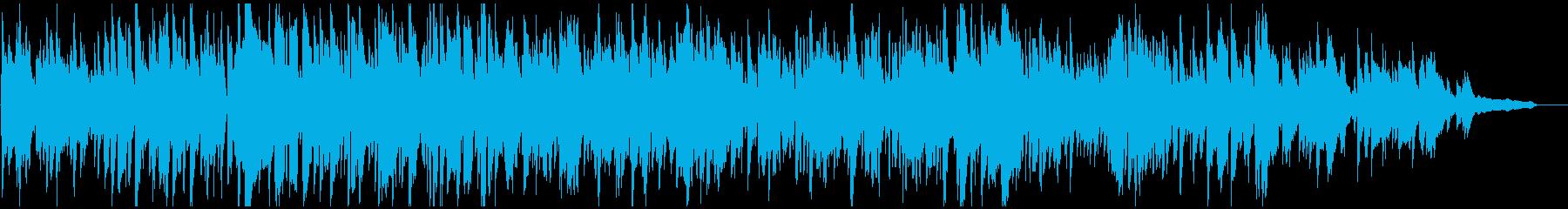 テナーサックス生演奏のボサノバ・ジャズの再生済みの波形