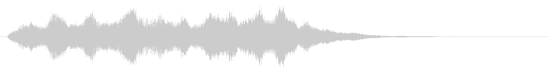 シンセサイザーによる不吉な場面転換音の未再生の波形