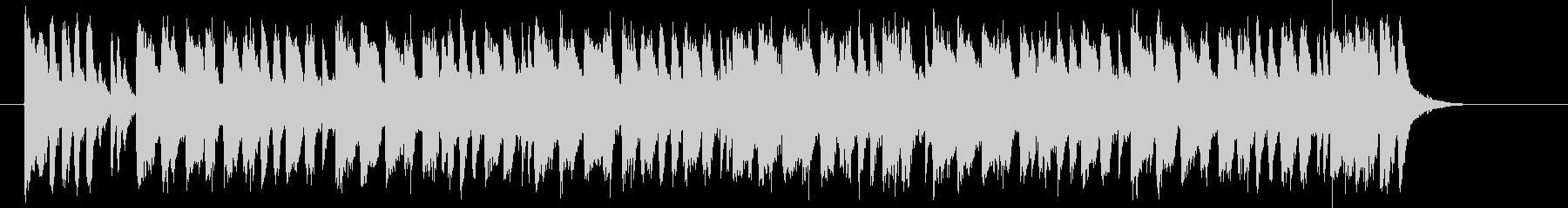 激しさ動きのあるアップテンポな曲の未再生の波形