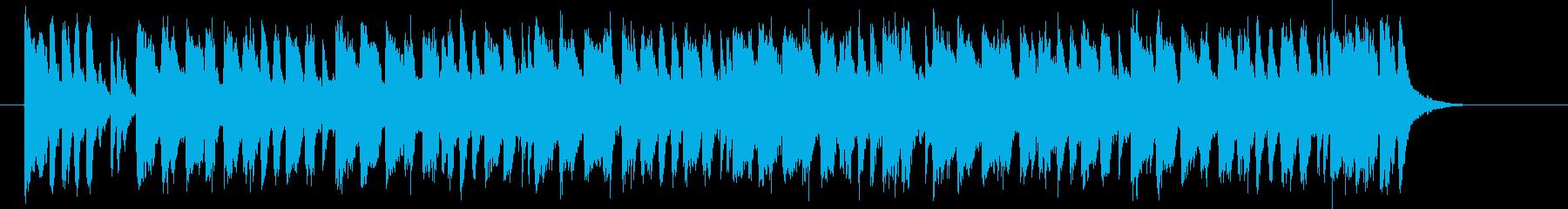 激しさ動きのあるアップテンポな曲の再生済みの波形