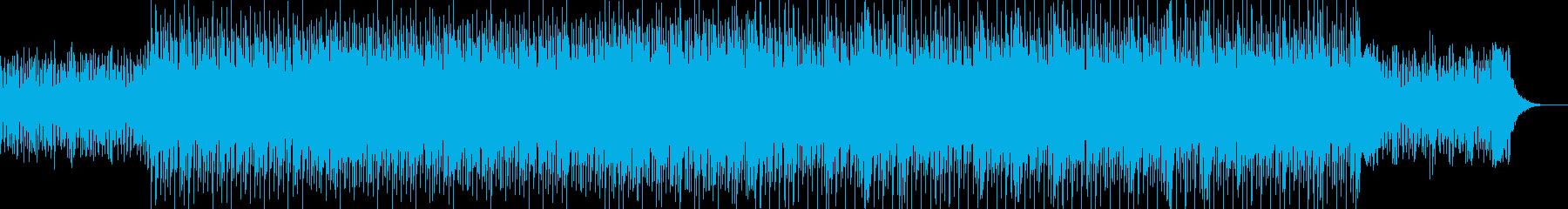 追いかけられているような疾走感のBGMの再生済みの波形