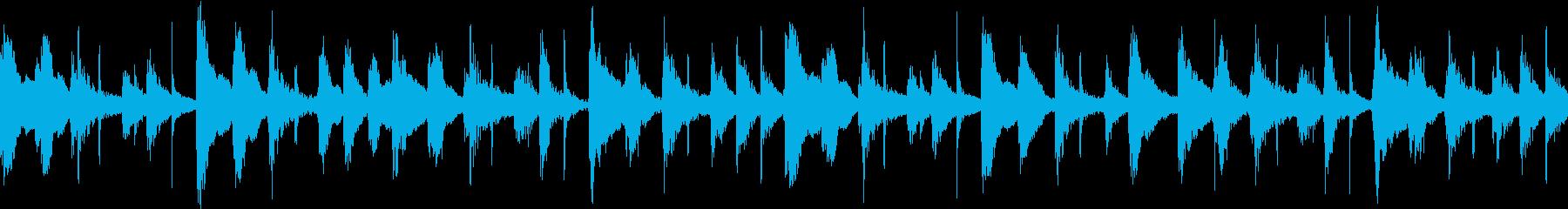 ストリングピッチカートの短い曲の再生済みの波形