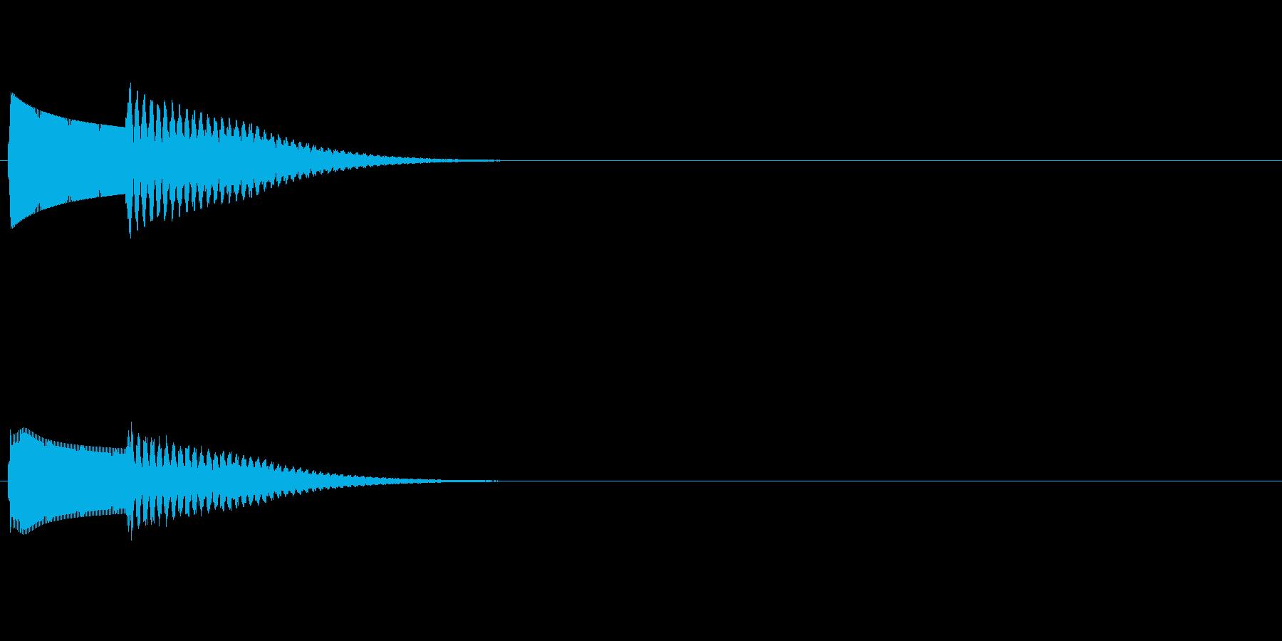 シンプルなチャイムの再生済みの波形