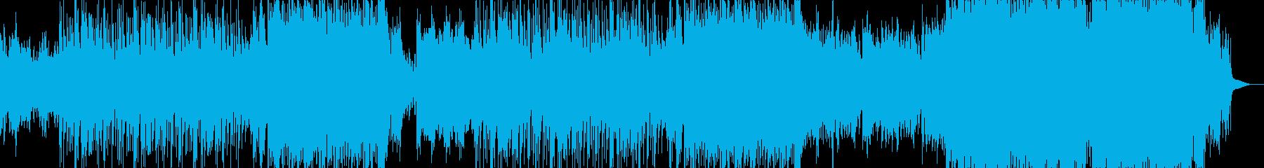 ポップソングの背景。バラバラなバラ...の再生済みの波形