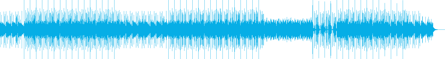 フルートとエレピのヒップホップサウンドの再生済みの波形