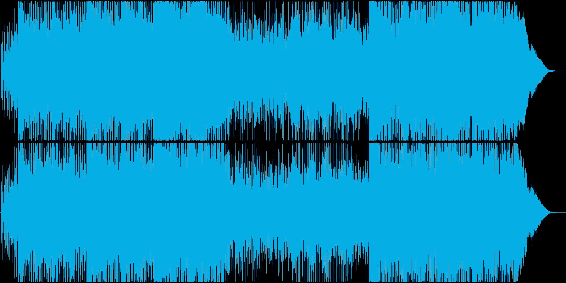 清涼感のある優しいポップ系EDMの再生済みの波形