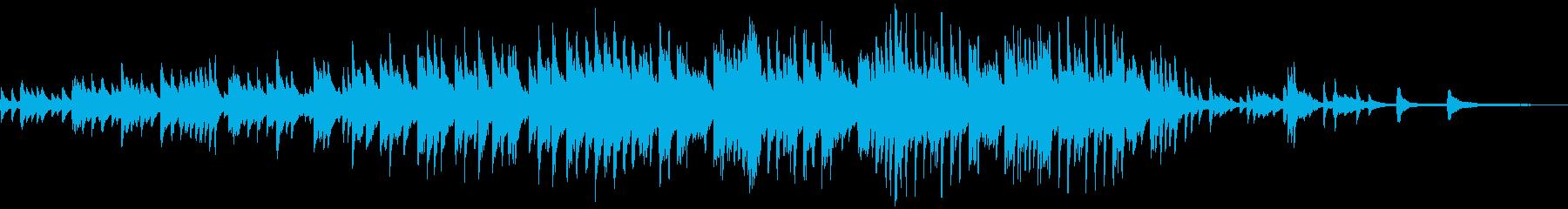 エンドロールのためのピアノソロの再生済みの波形