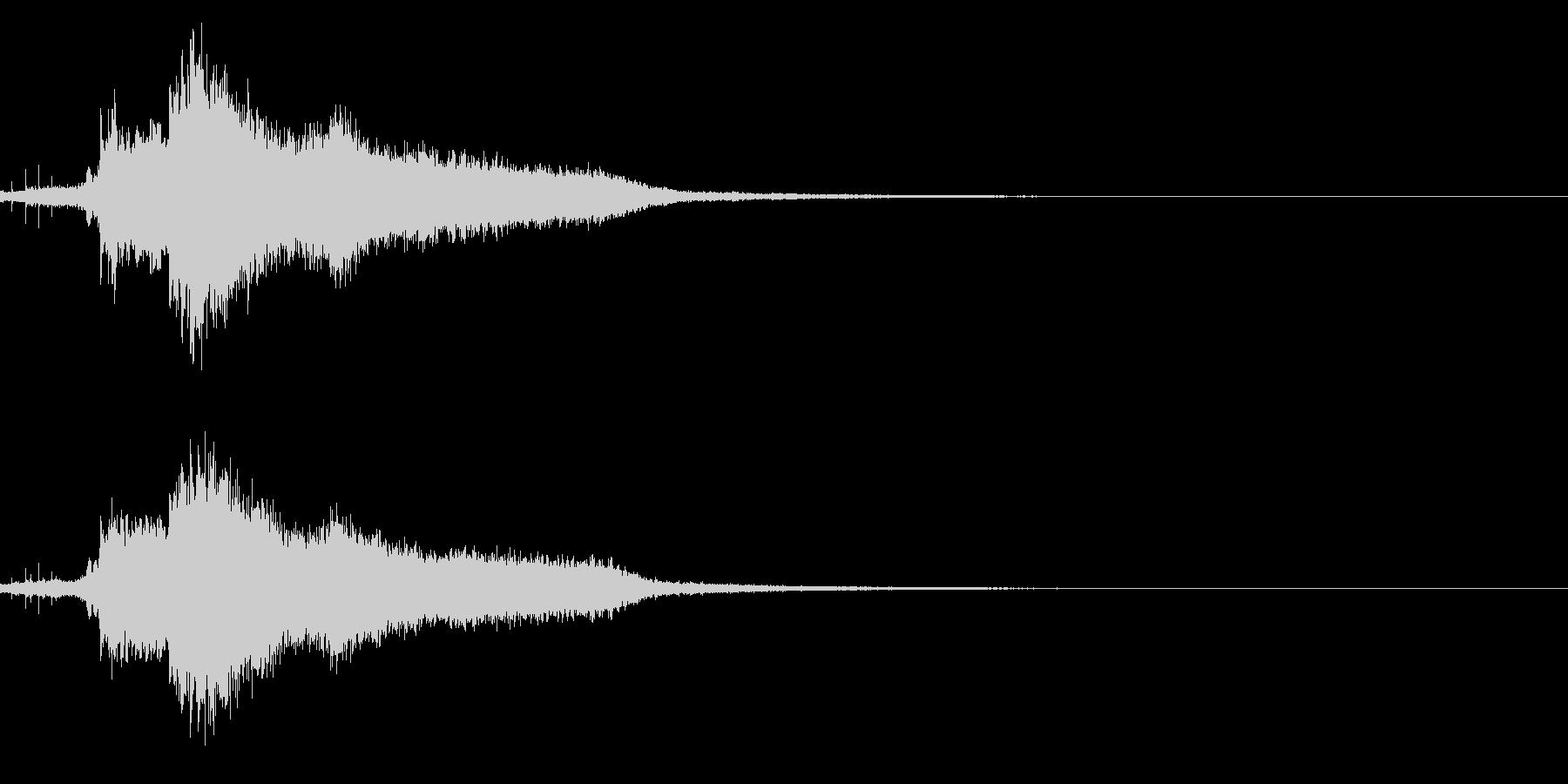 ハッピーニューイヤー ボイス&キラキラ音の未再生の波形