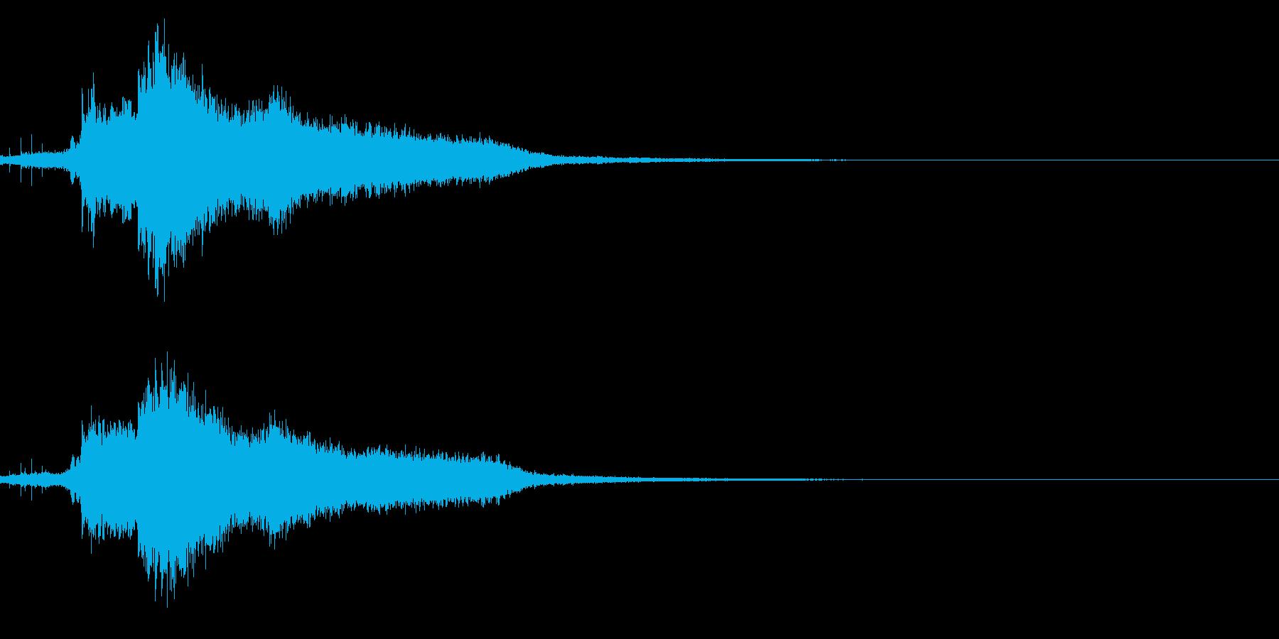 ハッピーニューイヤー ボイス&キラキラ音の再生済みの波形