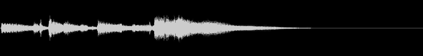 エレキギタークリーントーンのジングルの未再生の波形