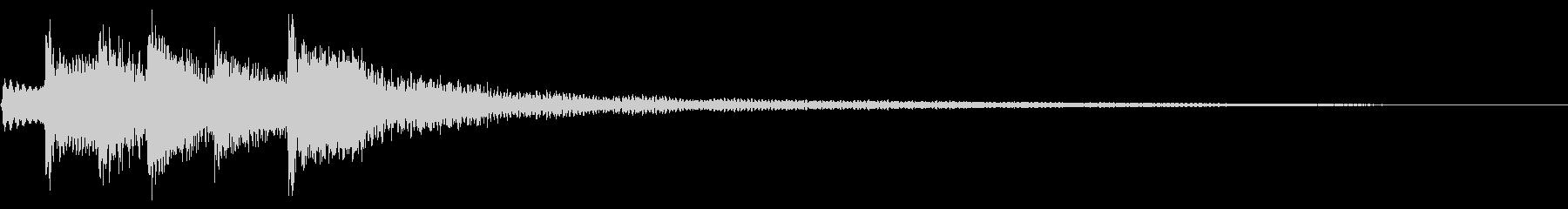 ナチュラル アルペジオ ナイロンギターの未再生の波形