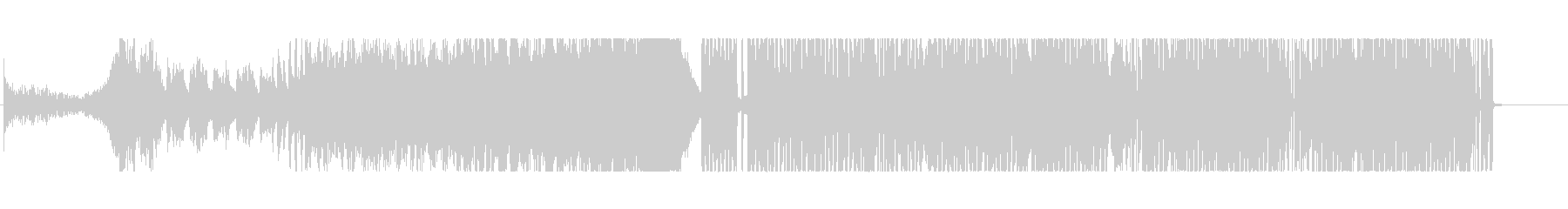 細かいドラムが特徴的なドラムンベースの未再生の波形