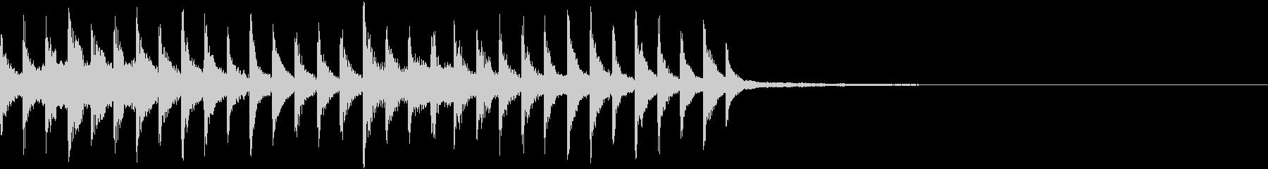 透明感のあるEDMジングル4の未再生の波形