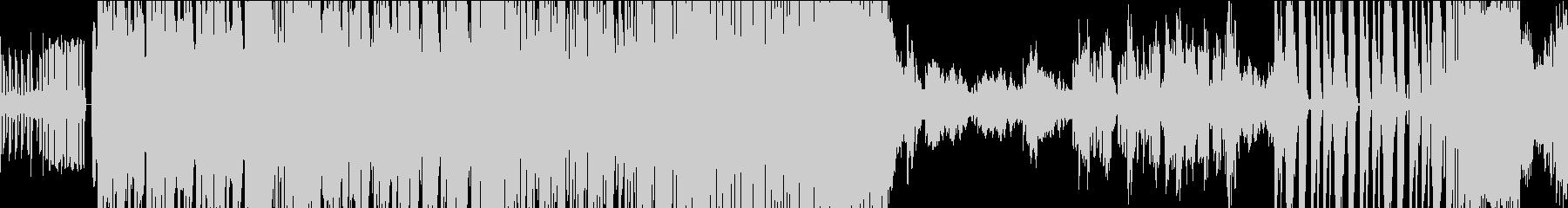 エレクトロの軽快なループ音楽の未再生の波形