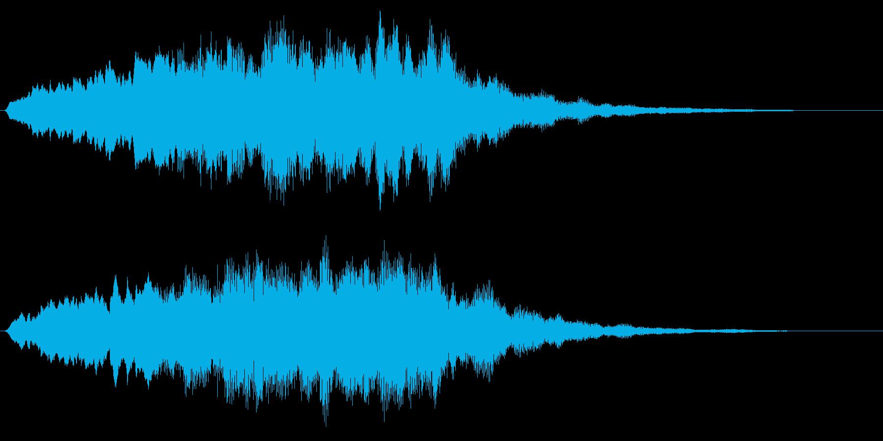 ホラーな音 恐怖を演出するストリングスの再生済みの波形