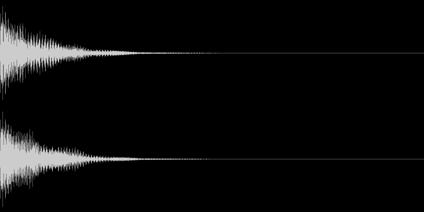 ソフトな衝撃音 エレクトリック 『ゴン』の未再生の波形