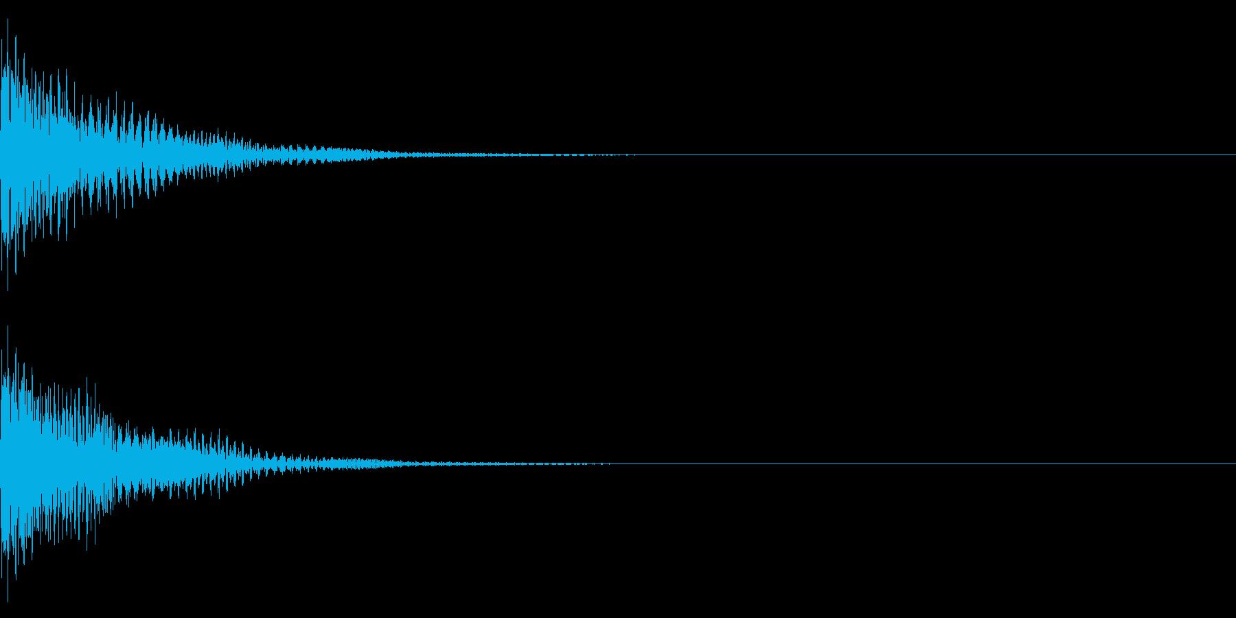 ソフトな衝撃音 エレクトリック 『ゴン』の再生済みの波形