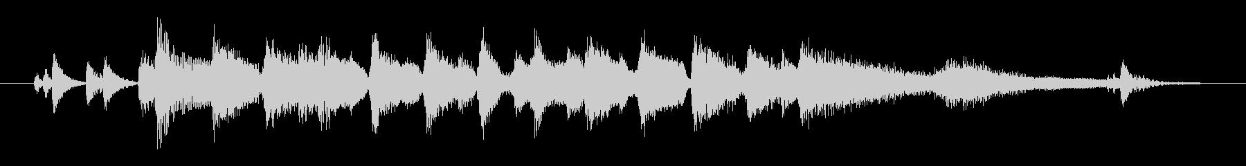ピアノトリオによる爽やかなジングルの未再生の波形