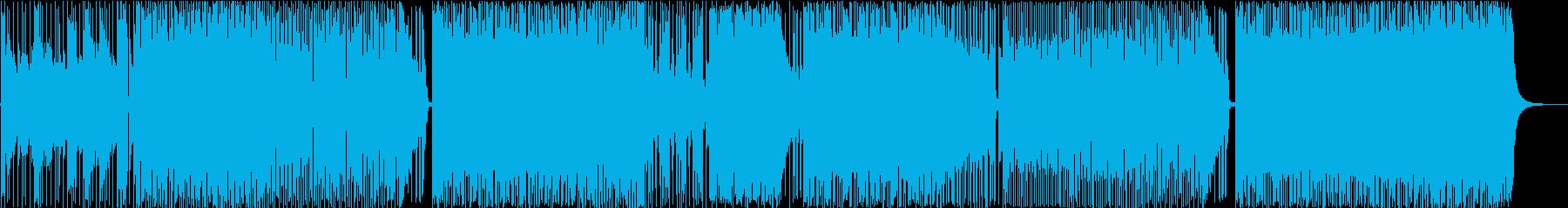 疾走感あるロックなインストBGMの再生済みの波形